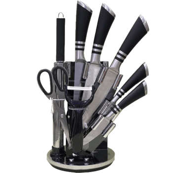 سرویس چاقو آشپزخانه 9 پارچه کد 19KS004