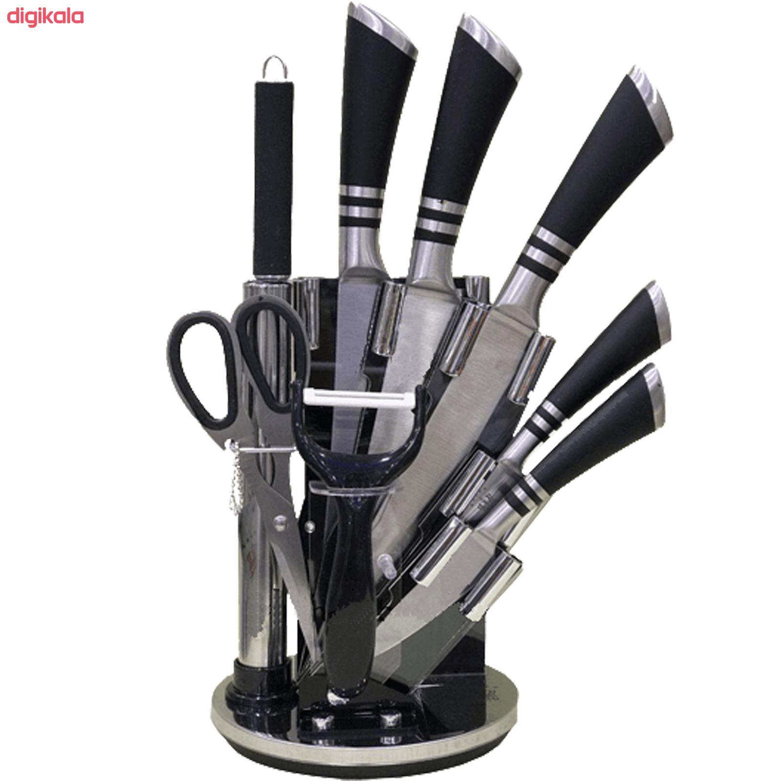 سرویس چاقو آشپزخانه 9 پارچه کد 19KS004 main 1 1