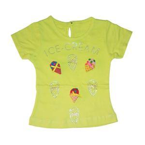 تی شرت آستین کوتاه دخترانه کد 5555TYL