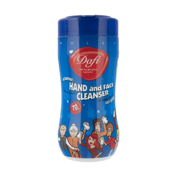 دستمال مرطوب کمر باریک دافی مدل پاک کننده دست و صورت کودک - بسته 70 عددی