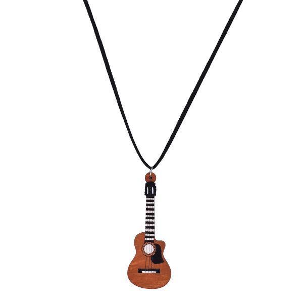 گردنبند مدل گیتار کلاسیک کد FR 12