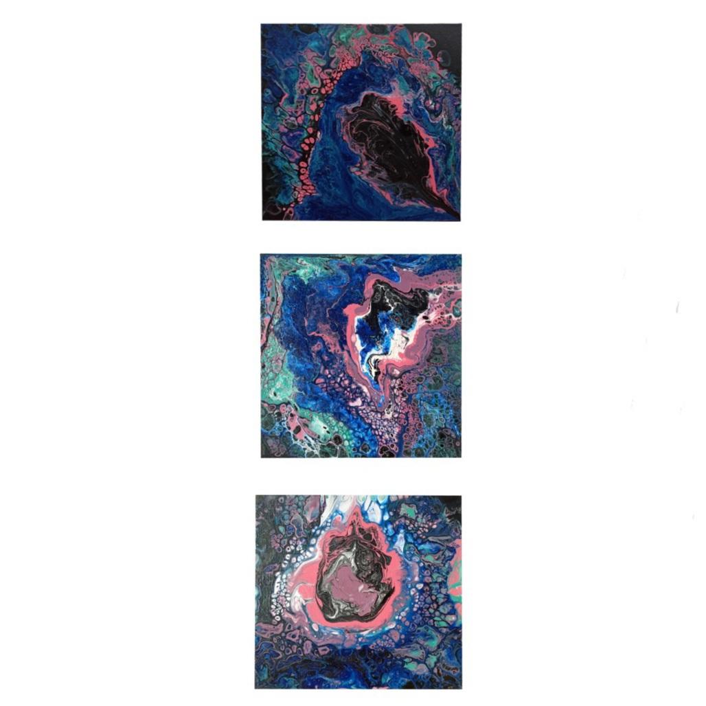تابلو نقاشی مدل تکه مجموعه سه عددی