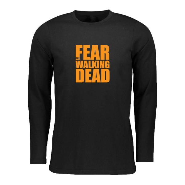 تی شرت آستین بلند زنانه مدل walking dead کد 004Org