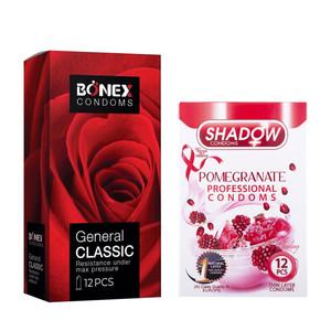 کاندوم بونکس مدل General Classic بسته 12 عددی به همراه کاندوم شادو مدل Pomegranate بسته 12 عددی