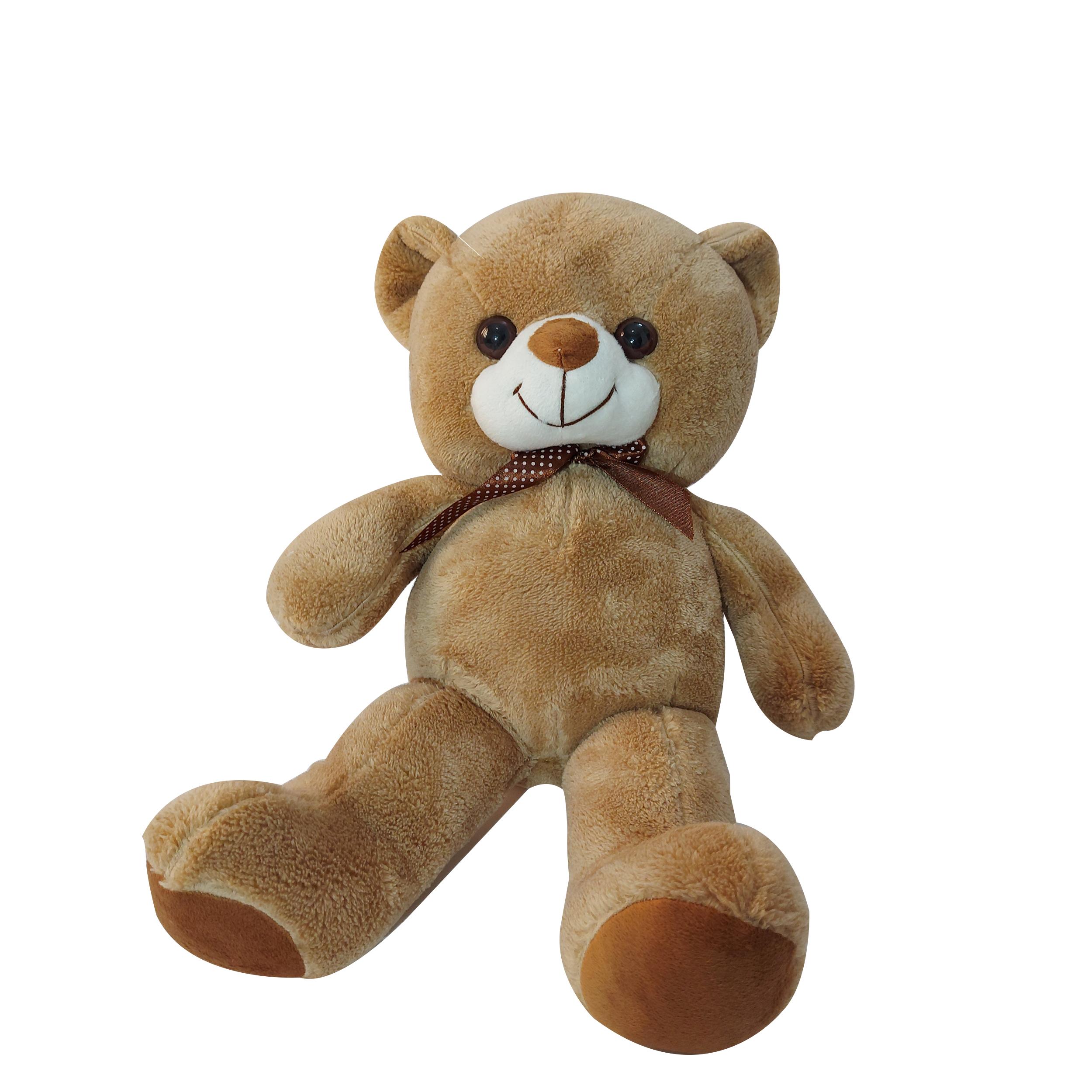 عروسک طرح خرس پاپیون دار مدل love ارتفاع 50 سانتی متر
