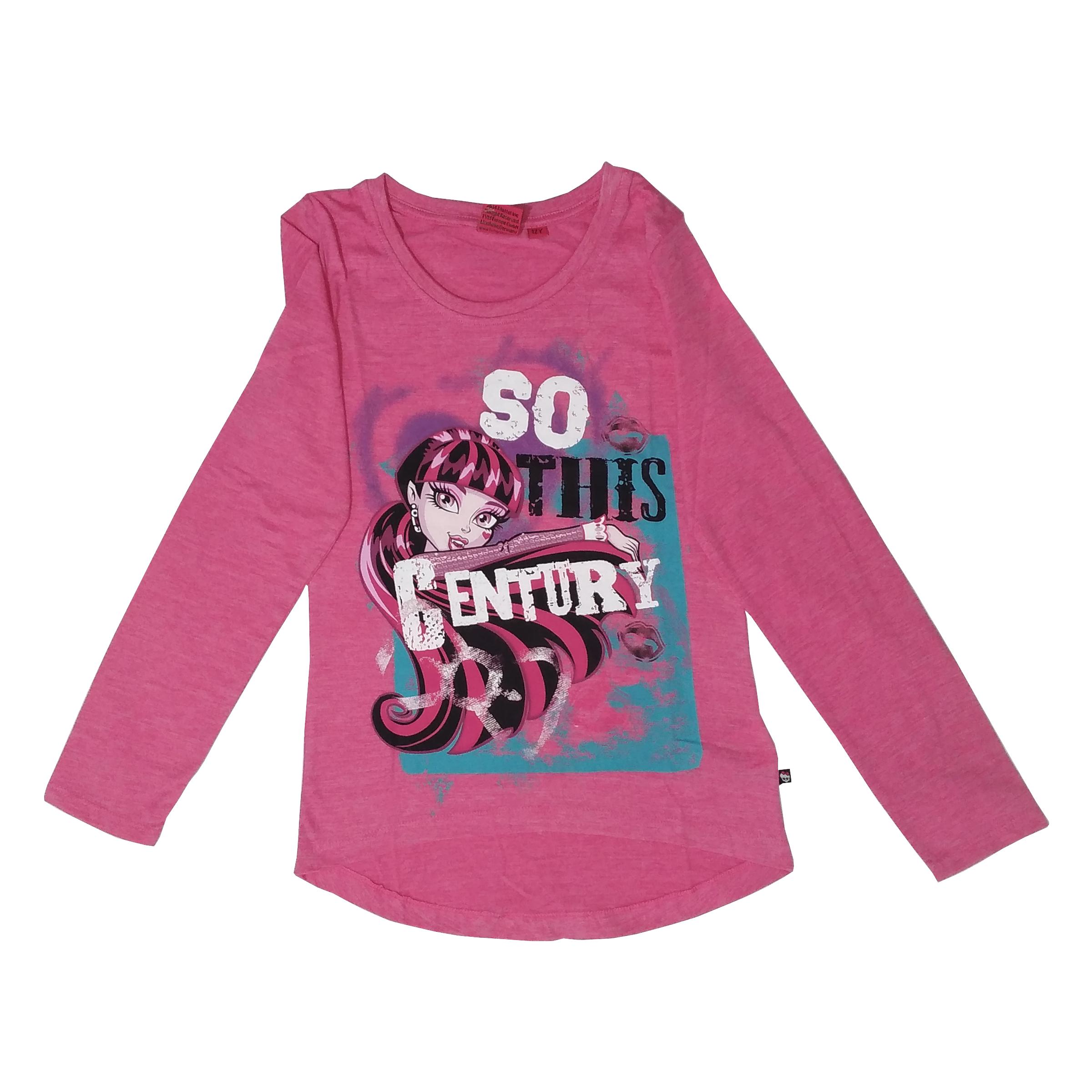 تی شرت آستین بلند دخترانه مانستر های مدل 11-13-17