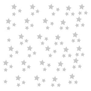 استیکر چوبی طرح ستاره های نقره ای مجموعه 170 عددی
