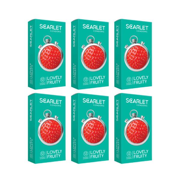 کاندوم اسکارلت مدل LOVELY FRUITY مجموعه 6 عددی