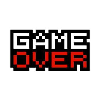 استیکر لپ تاپ طرح Game Over کد ST-93
