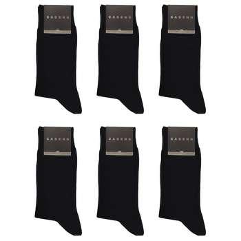جوراب مردانه کادنو کد CA1101 بسته 6 عددی رنگ مشکی