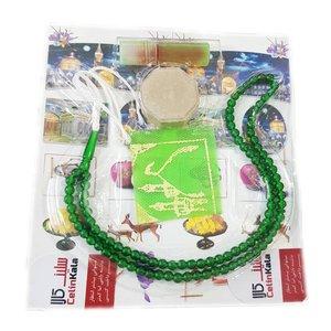 مهر نماز سلین کالا مدل cool-125 کد 5000 به همراه تسبیح و عطر و جانماز