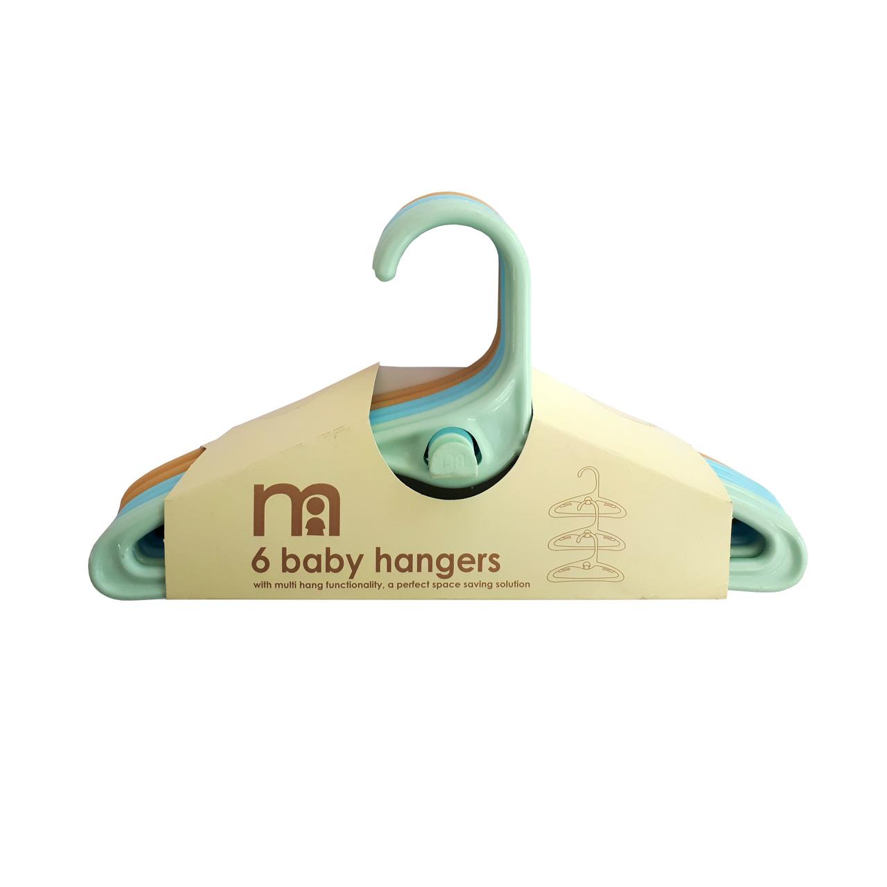 چوب لباسی نوزادی مادرکر کد m1 مجموعه 6 عددی