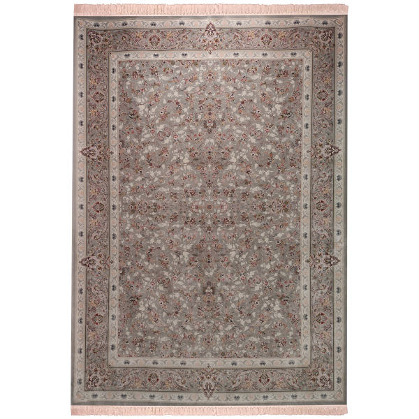 فرش ماشینی زمرد مشهد طرح افشان زمینه سیلور