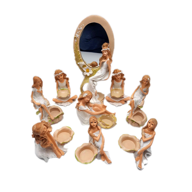 مجموعه ظروف هفت سین 9 پارچه طرح فرشته کد7006