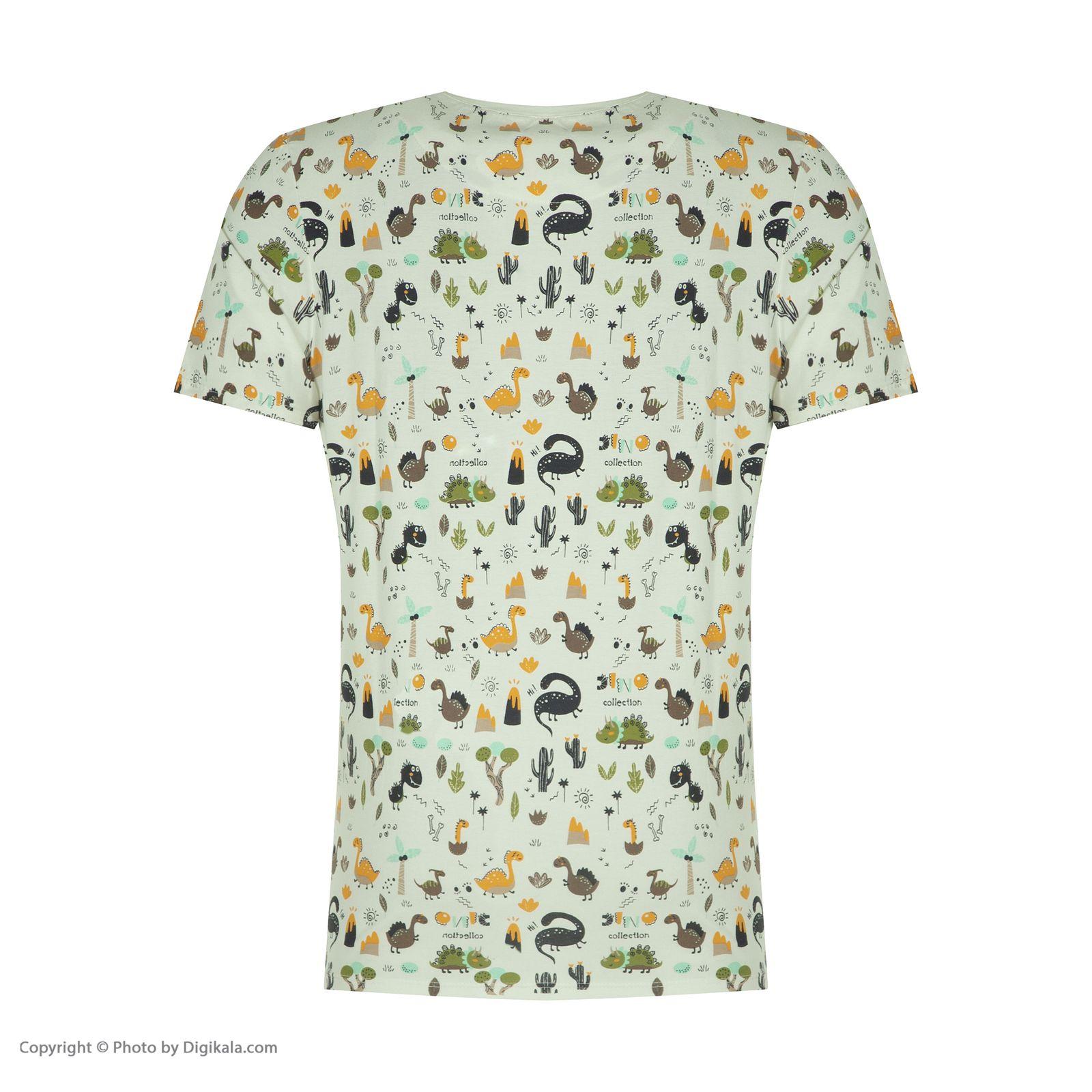 ست تی شرت و شلوارک راحتی مردانه مادر مدل 2041110-74 -  - 6