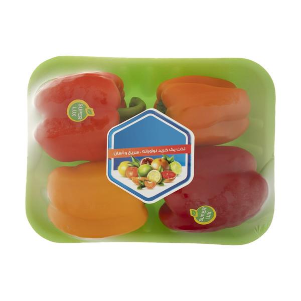 فلفل دلمه رنگی میوه پلاس - 500 گرم