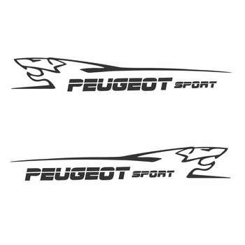 برچسب بدنه خودرو طرح پژو کد F6بسته ۲ عددی
