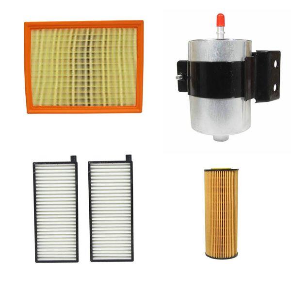 فیلتر هوا خودرو سانگ یانگ مدل 09001 مناسب برای اکتیون به همراه فیلتر روغن و فیلتر کابین و فیلتر بنزین