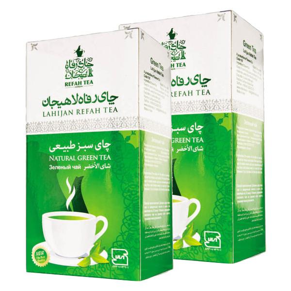 چای سبز طبیعی رفاه لاهیجان - 210 گرم مجموعه 2 عددی
