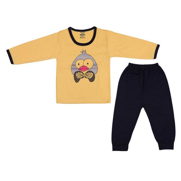 ست تی شرت و شلوار نوزادی مدل جوجه کد 600