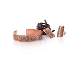 ست زیورآلات دست ساز زنانه آرانیک مدل مسی حکاکی شده کد 1525000002