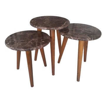 میز عسلی مدل 77 مجموعه ۳ عددی