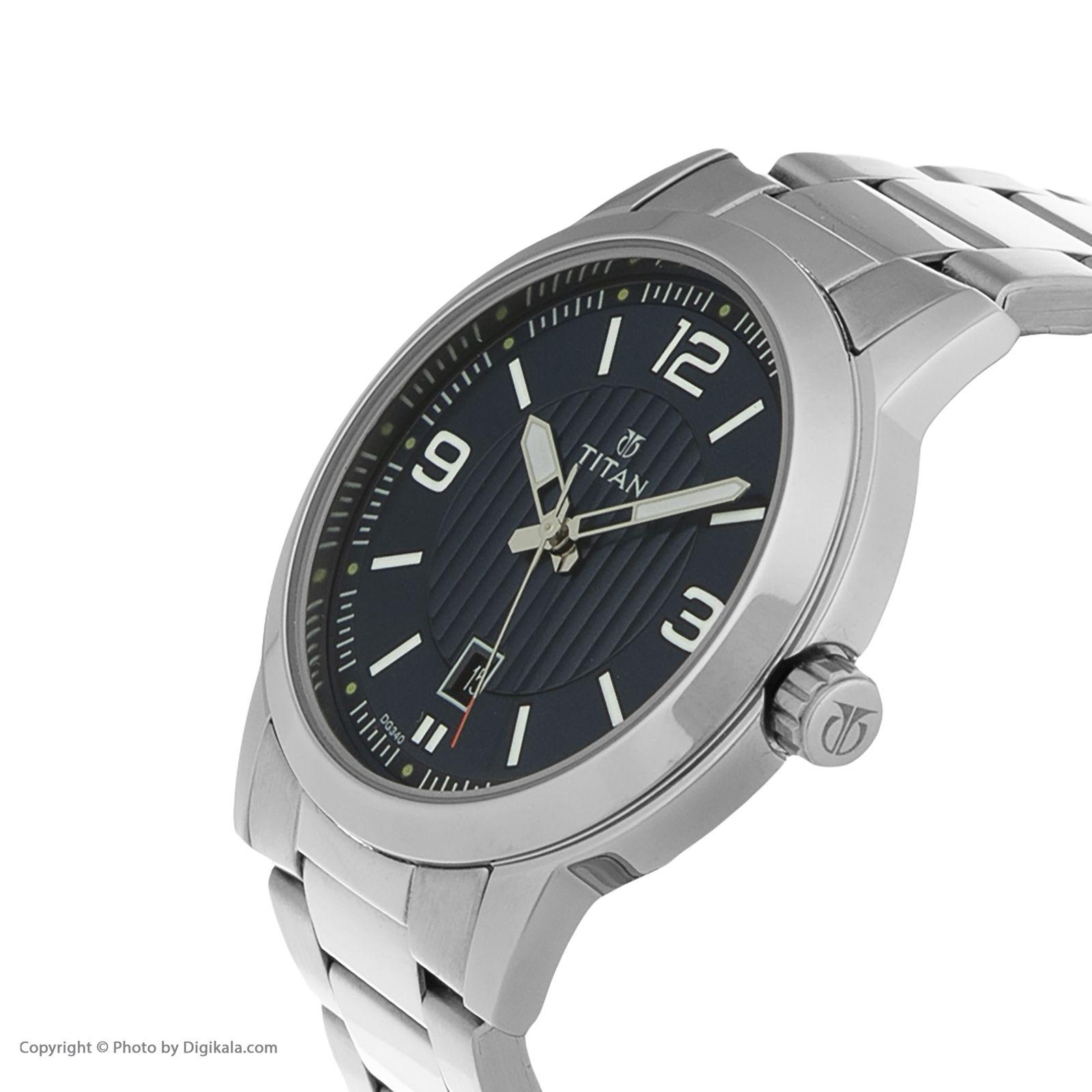 ساعت مچی عقربه ای مردانه تیتان مدل T1730SM03 -  - 4