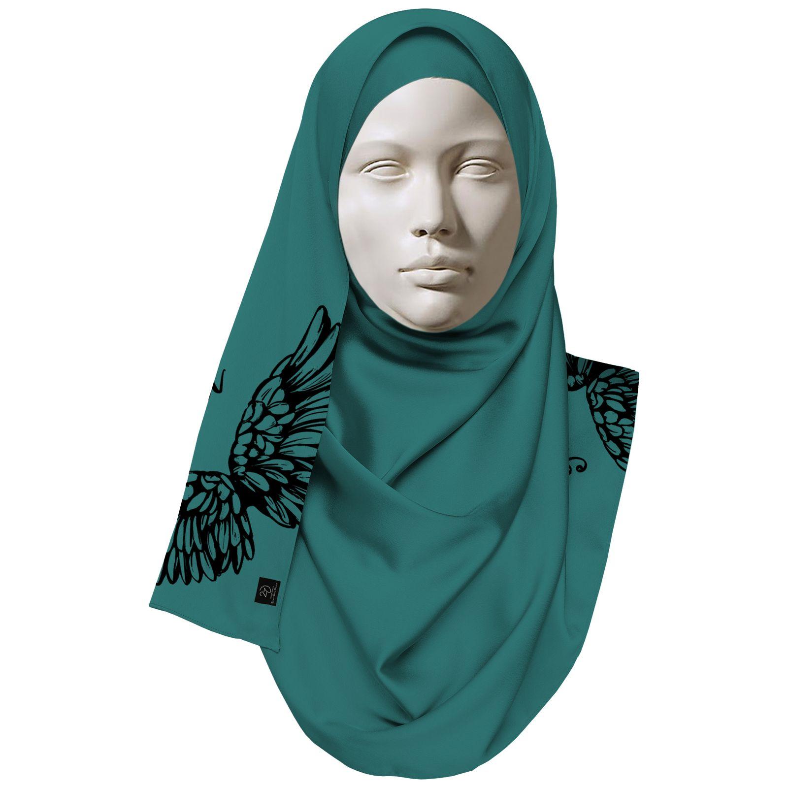 روسری زنانه 27 طرح angel کد H08 -  - 3