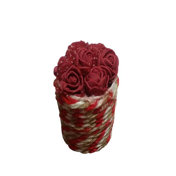 گلدان به همراه گل مصنوعی مدل love