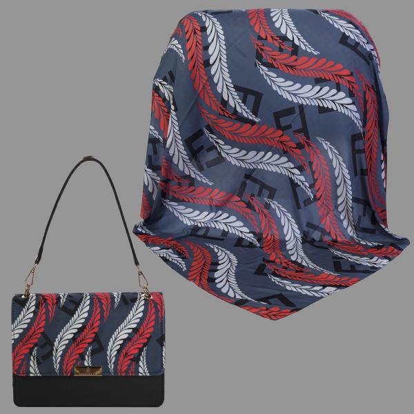 ست کیف و روسری زنانه کد T2-990219 غیر اصل