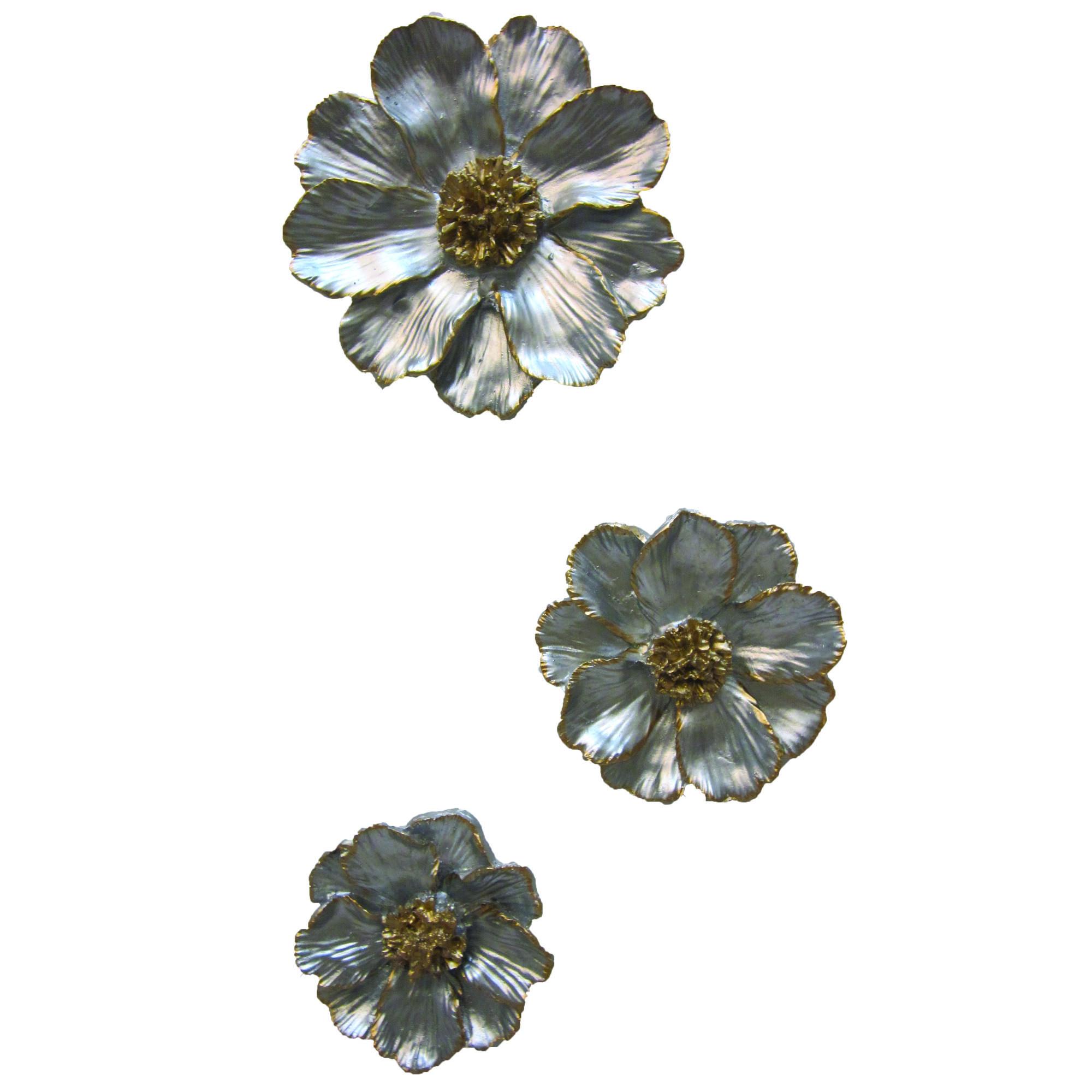 دیوارکوب مدل گل زنبق مجموعه 3 عددی