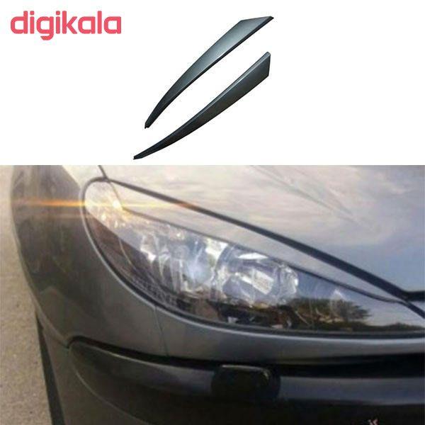 ابرویی چراغ جلو خودرو مدل FAR4 مناسب برای پژو 206 بسته دو عددی  main 1 1