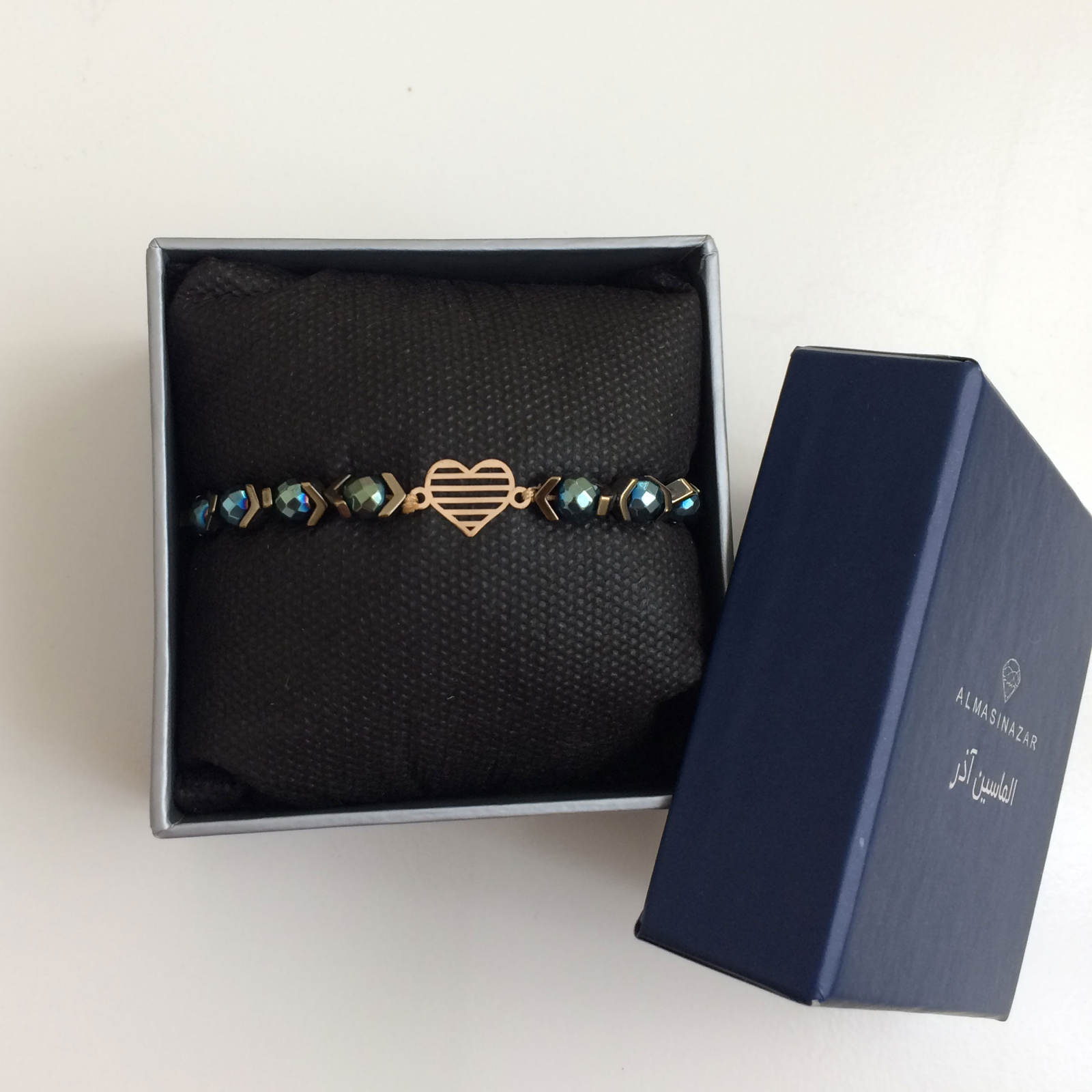 دستبند طلا 18 عیار زنانه الماسین آذر کد GHALB02 -  - 4