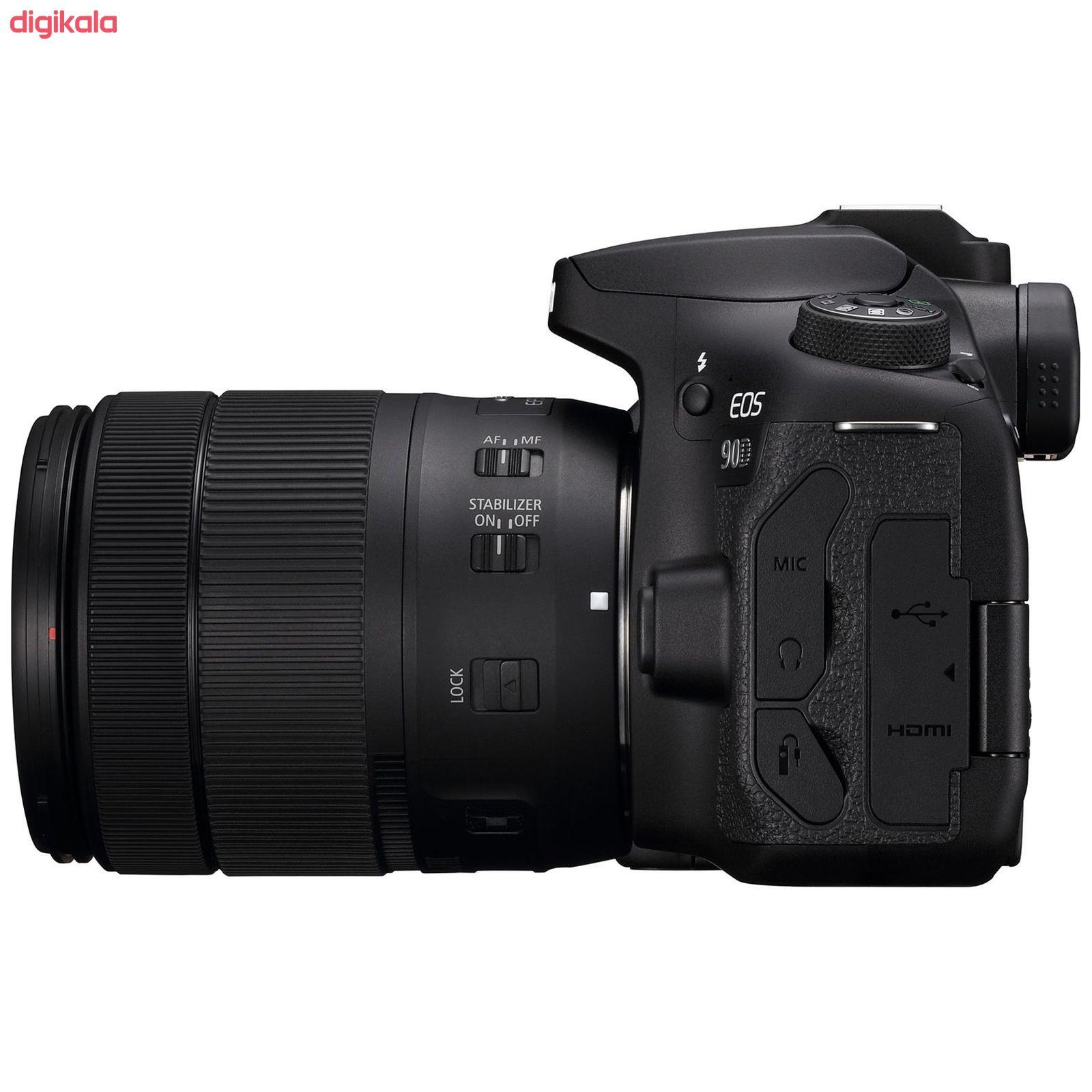 دوربین دیجیتال کانن مدل EOS 90D به همراه لنز 135-18 میلی متر IS USM main 1 3
