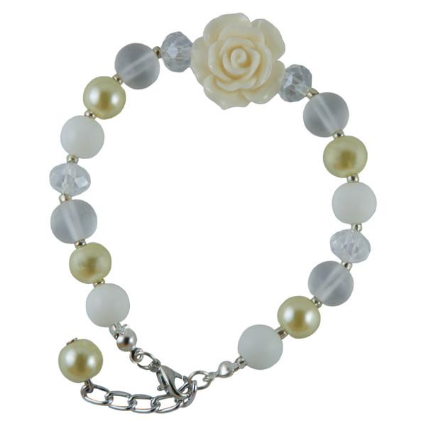 دستبند دخترانه طرح گل کد 1060