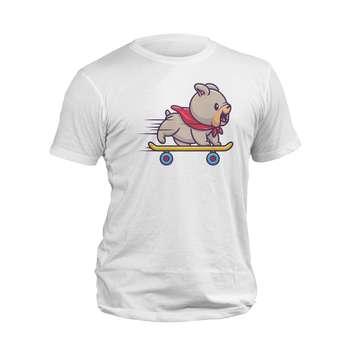 تیشرت آستین کوتاه مردانه مدل سگ اسکیت سوار کد 236