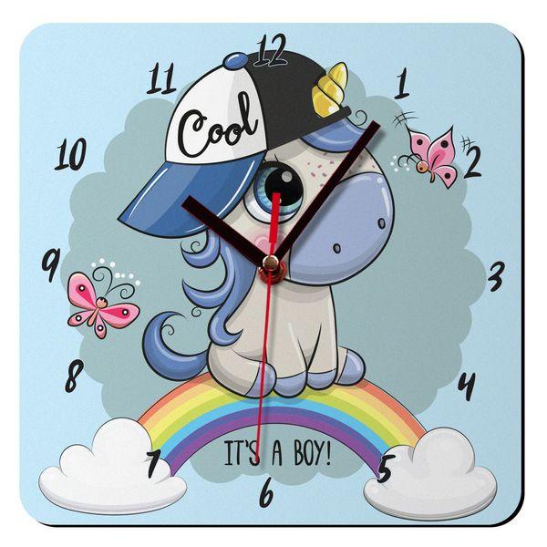 ساعت دیواری کودک ژیوار مدل بچه تک شاخ کد 66
