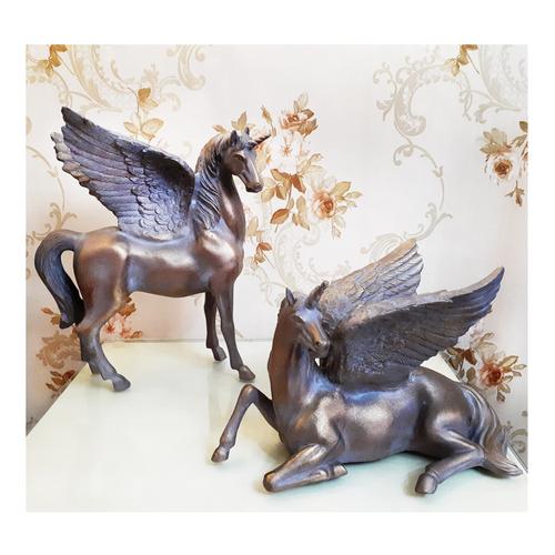 مجسمه طرح اسب شاخدار کد Z1 مجموعه 2 عددی