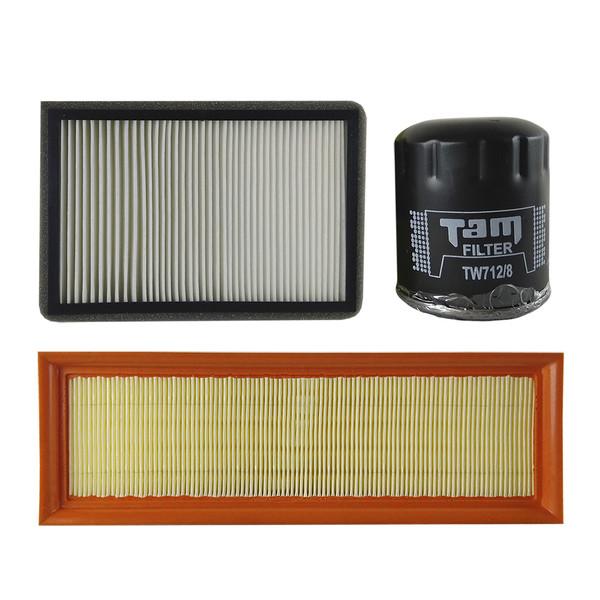 فیلتر روغن تام مدل TW712/8 مناسب برای پژو 405 انژکتوری به همراه فیلتر هوا و فیلتر کابین