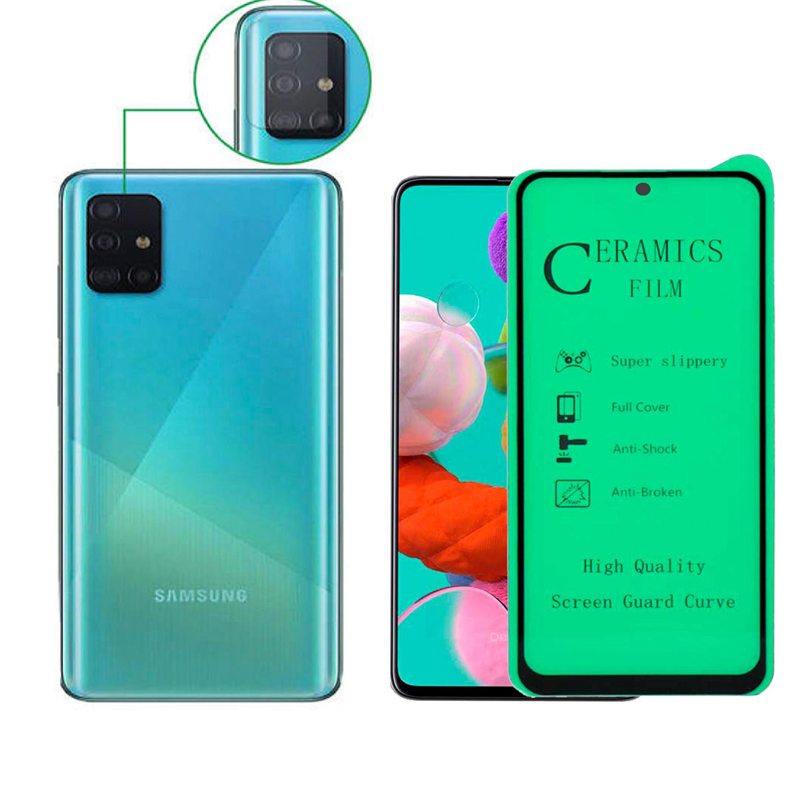 محافظ صفحه نمایش آواتار مدل CGGLNZ_A51_2 مناسب برای گوشی موبایل سامسونگ GALAXY A51 به همراه محافظ لنز دوربین