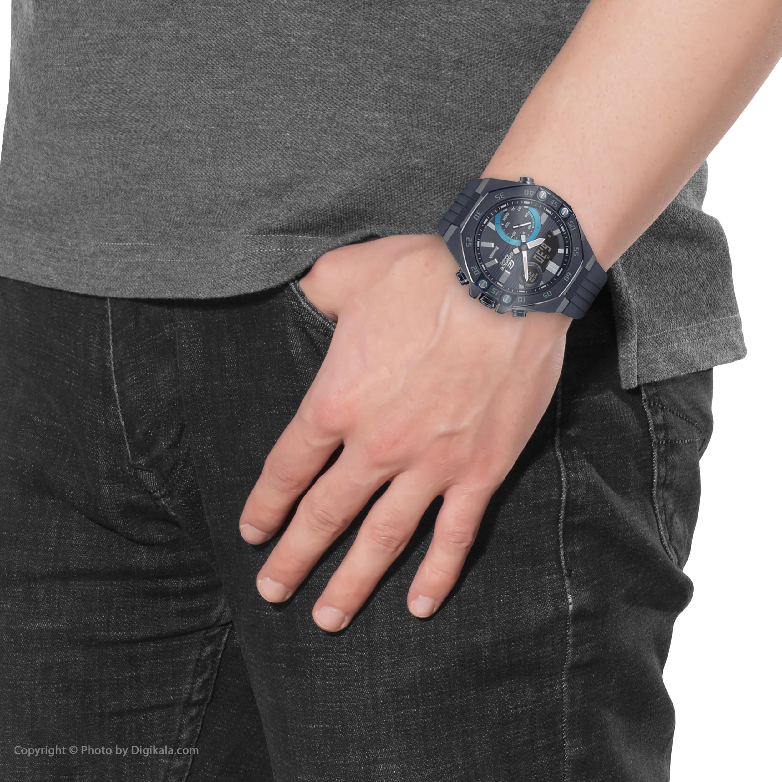 ساعت مچی عقربهای مردانه کاسیو مدل ECB-10PB-1ADF