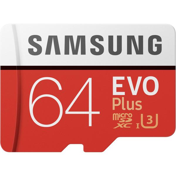 کارت حافظه microSDXC مدل Evo Plus کلاس 10 استاندارد UHS-I U3 سرعت 100MBps ظرفیت 64 گیگابایت