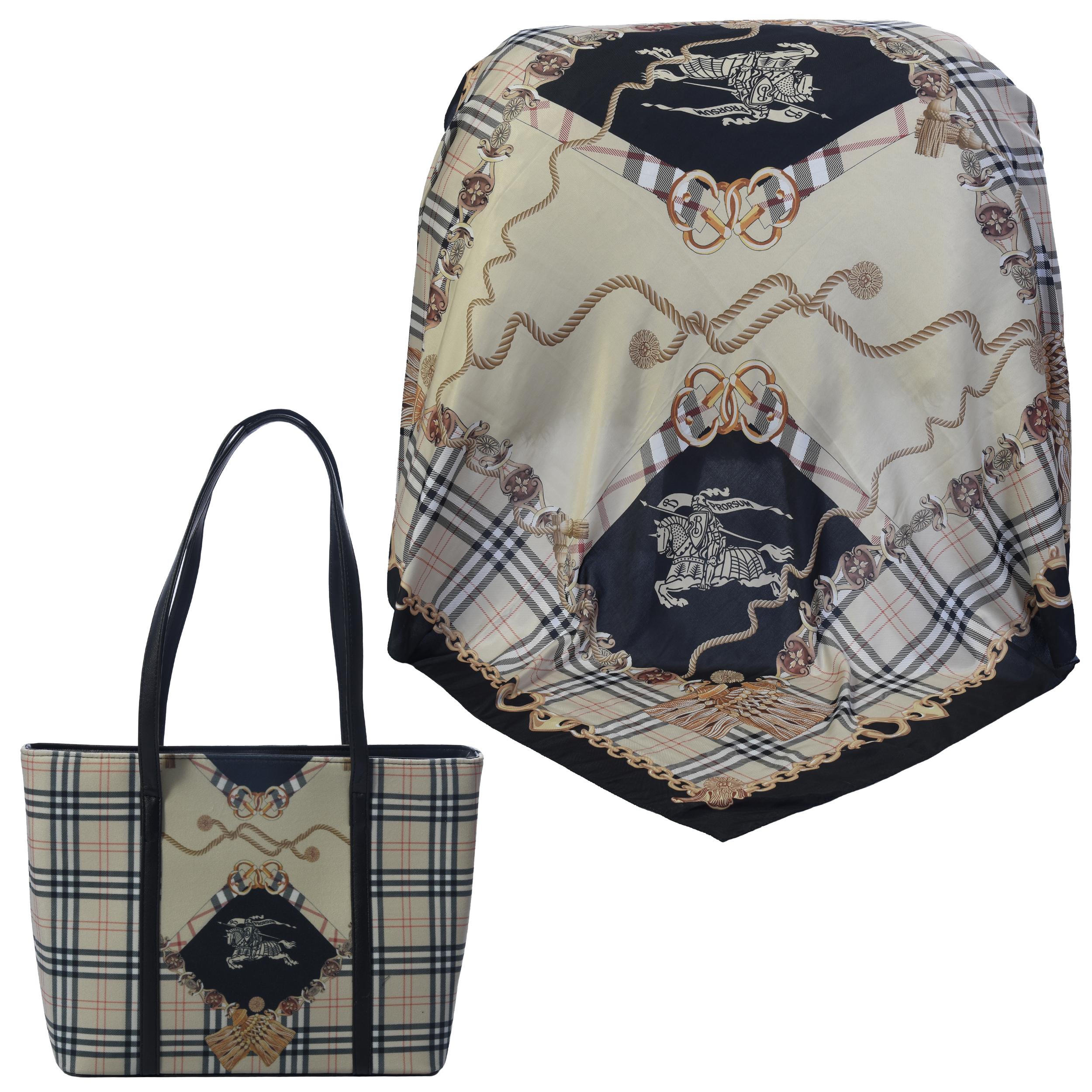 ست کیف و روسری زنانه کد 990211-T1