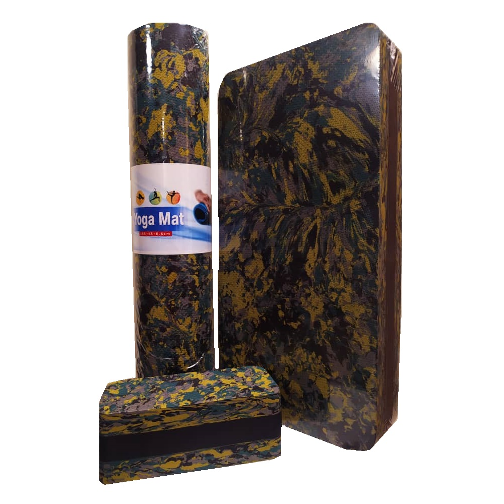 آجر یوگا مدل 360Luxe به همراه  تخته استپ و زیرانداز یوگا
