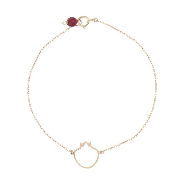 دستبند طلا 18 عیار زنانه نیوانی مدل B1004