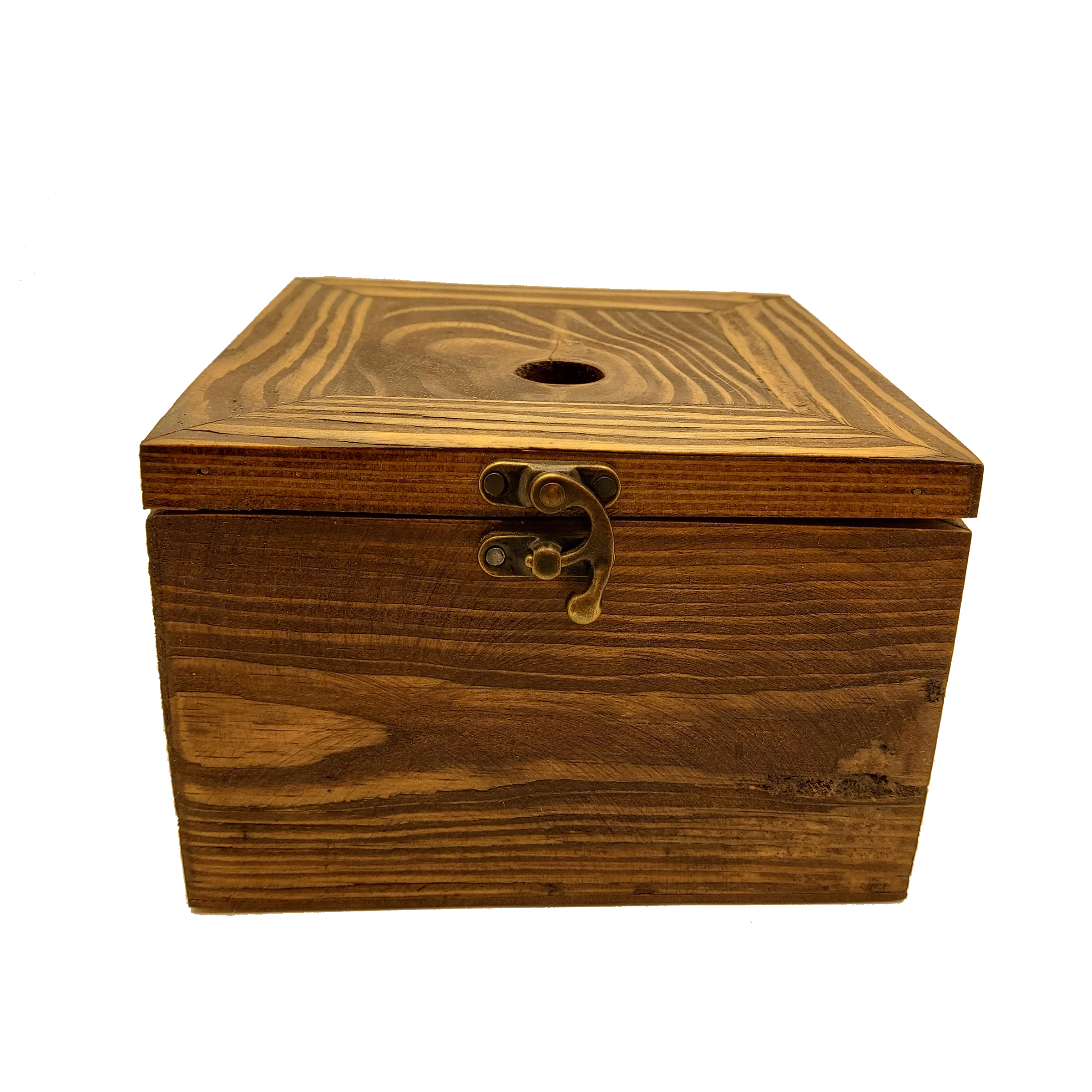 جعبه هدیه چوبی مدل چهارضلعی