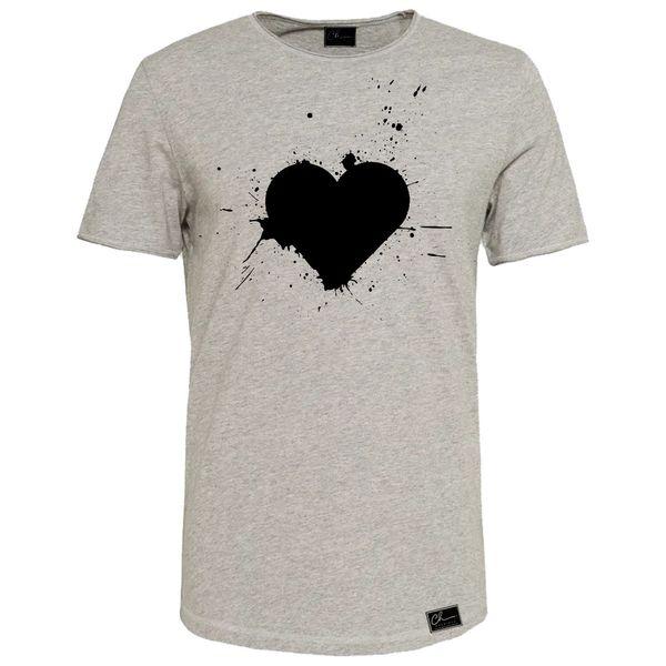 تی شرت زنانه مدل قلب کد J21 رنگ طوسی