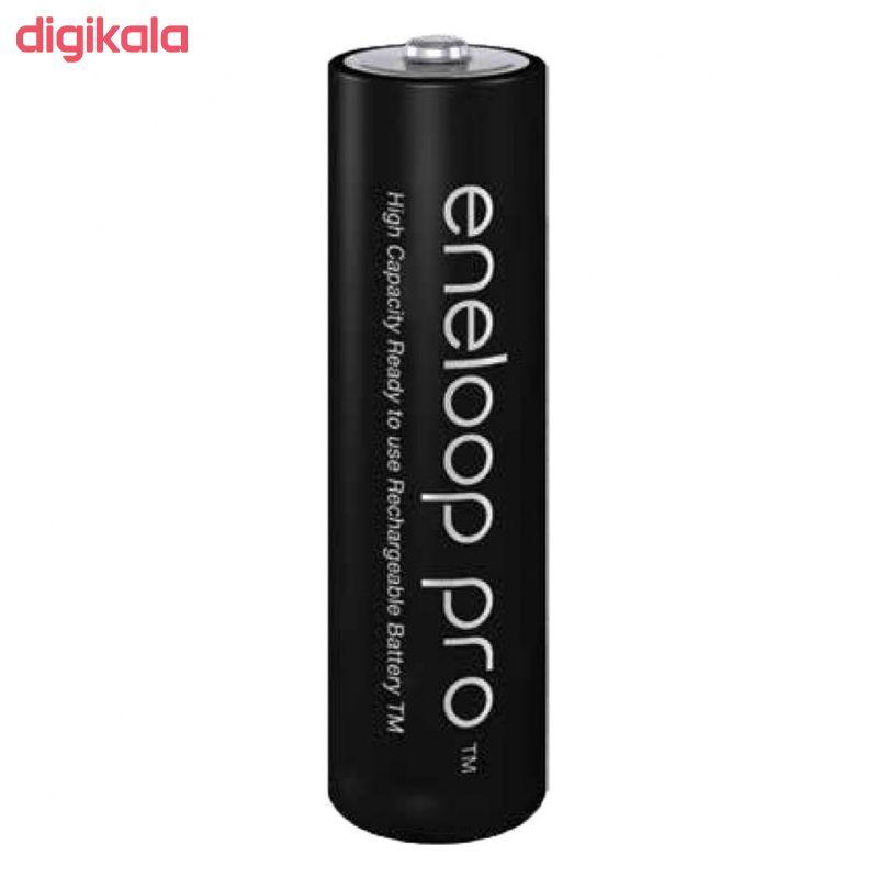باتری قلمی قابل شارژ پاناسونیک مدل Eneloop Pro BK-3HCDE بسته 2 عددی main 1 2