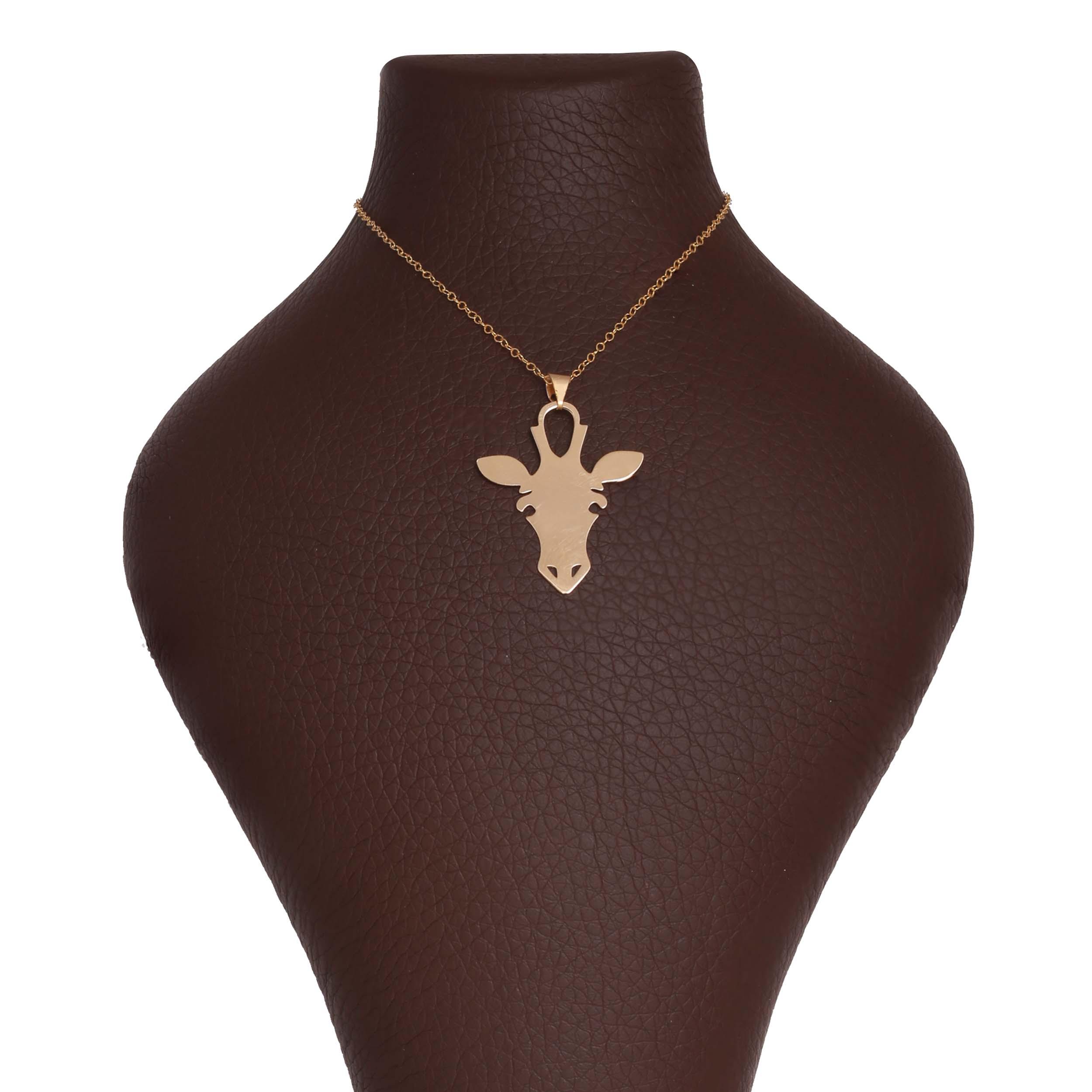 گردنبند طلا 18 عیار زنانه آمانژ طرح زرافه کد 1141D9065