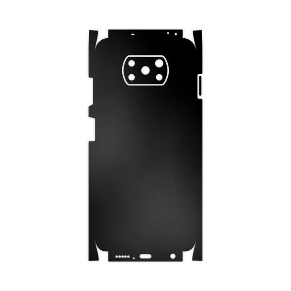 برچسب پوششی ماهوت مدل Black-Matte-FullSkin مناسب برای گوشی موبایل شیائومی Poco X3 NFC